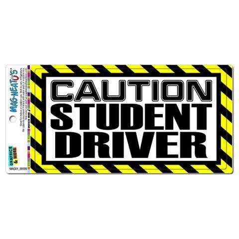 Caution Student Driver MAG-NEATO