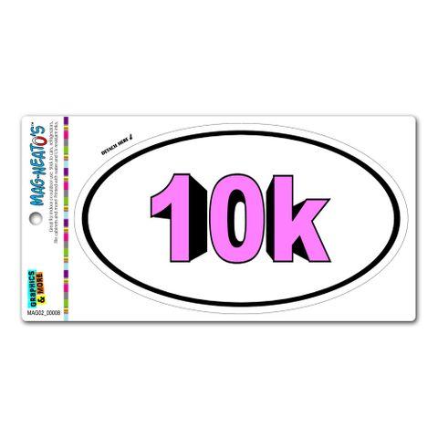 10k Bold Pink - Runner Running Euro Oval MAG-NEATO