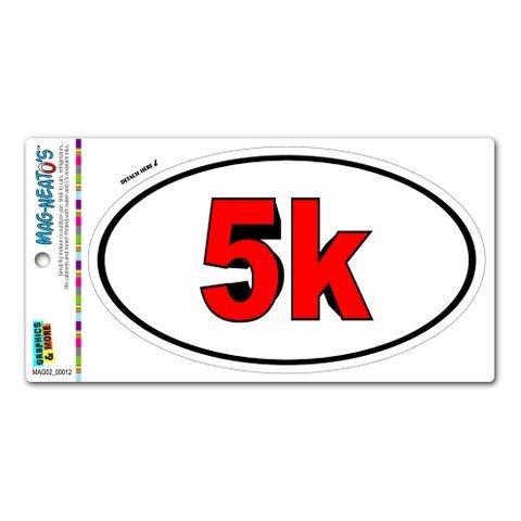5k Bold Red - Runner Running Euro Oval MAG-NEATO