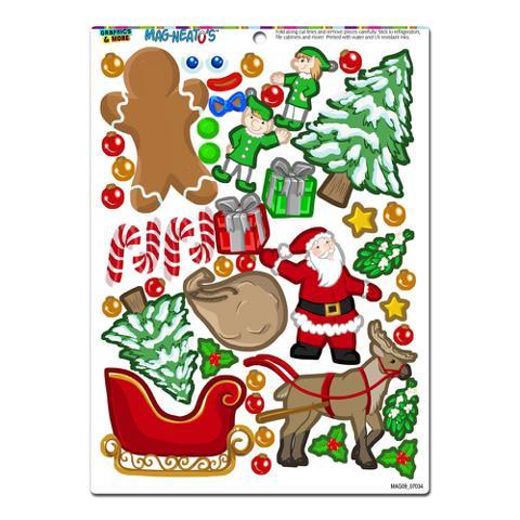 Christmas Mash-up - Holiday Santa Reindeer Elves Gingerbread Man Tree Presents MAG-NEATO