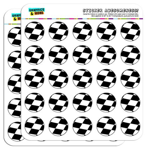"""Checkered Flag Racing 1"""" Scrapbooking Crafting Stickers"""