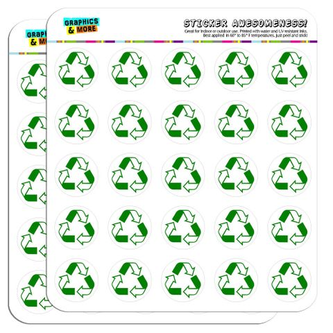 """Recycle Reuse Conservation Hybrid 1"""" Scrapbooking Crafting Stickers"""