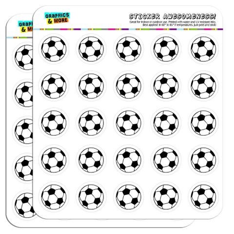 "Cartoon Soccer Ball Football 1"" Scrapbooking Crafting Stickers"