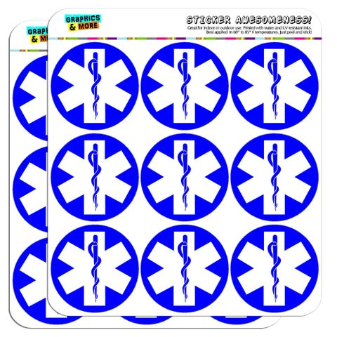 """Star of Life Medical Health EMT RN MD 2"""" Scrapbooking Crafting Stickers"""