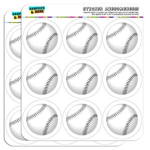"Baseball Ball 2"" Scrapbooking Crafting Stickers"