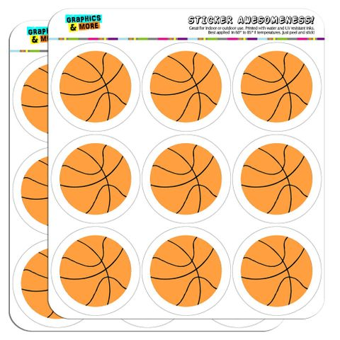 "Cartoon Basketball 2"" Scrapbooking Crafting Stickers"