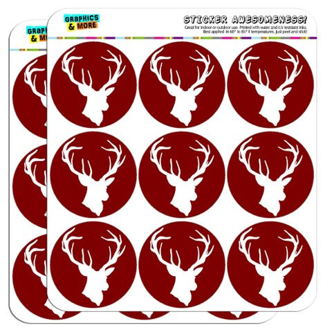 "Deer Hunter Buck Hunting 2"" Scrapbooking Crafting Stickers"