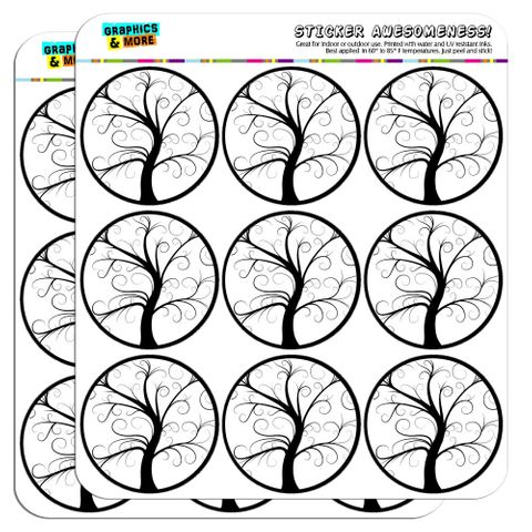 """Tree of Life 2"""" Scrapbooking Crafting Stickers"""