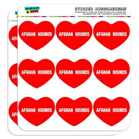 """I Love Heart - Dogs - Afghan Hounds - 2"""" Scrapbooking Crafting Stickers"""