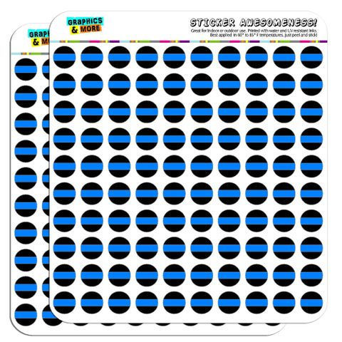 """Thin Blue Line 1/2"""" (0.5"""") Scrapbooking Crafting Stickers"""