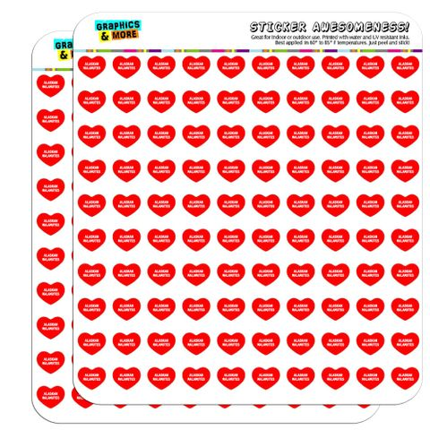 "I Love Heart - Dogs - Alaskan Malamutes - 1/2"" (0.5"") Scrapbooking Crafting Stickers"