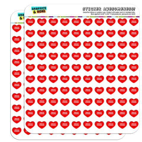 "I Love Heart - Dogs - American Foxhounds - 1/2"" (0.5"") Scrapbooking Crafting Stickers"