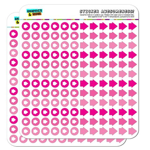 Arrow Dots Planner Calendar Scrapbooking Crafting Stickers - Pink