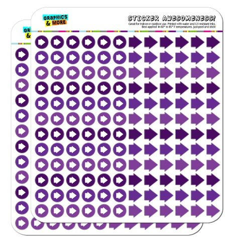Arrow Dots Planner Calendar Scrapbooking Crafting Stickers - Purple