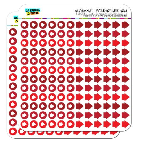 Arrow Dots Planner Calendar Scrapbooking Crafting Stickers - Red