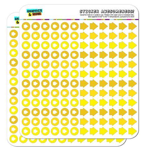 Arrow Dots Planner Calendar Scrapbooking Crafting Stickers - Yellow