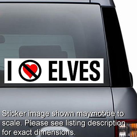 I Hate Elves Sticker