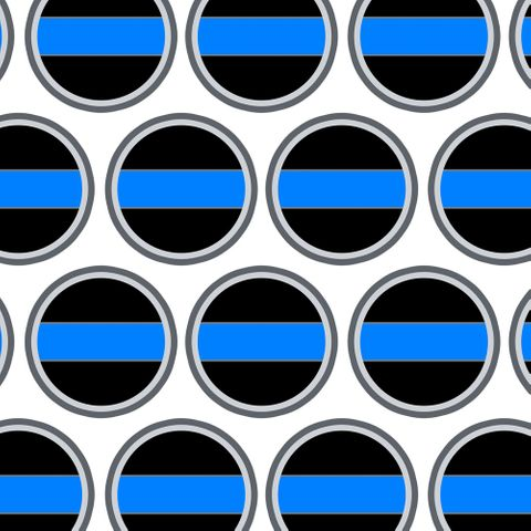 Thin Blue Line Premium Gift Wrap Wrapping Paper Roll
