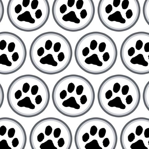 Paw Print Pet Dog Cat Premium Gift Wrap Wrapping Paper Roll