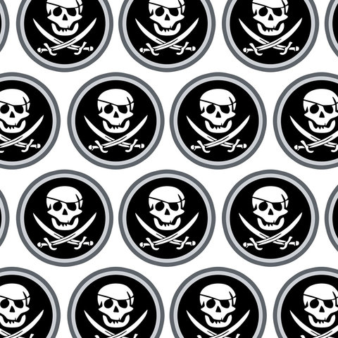 Pirate Skull Crossed Swords Jolly Roger Premium Gift Wrap Wrapping Paper Roll