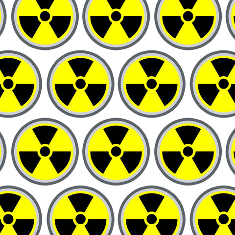 Radioactive Nuclear Warning Symbol Premium Gift Wrap Wrapping Paper Roll