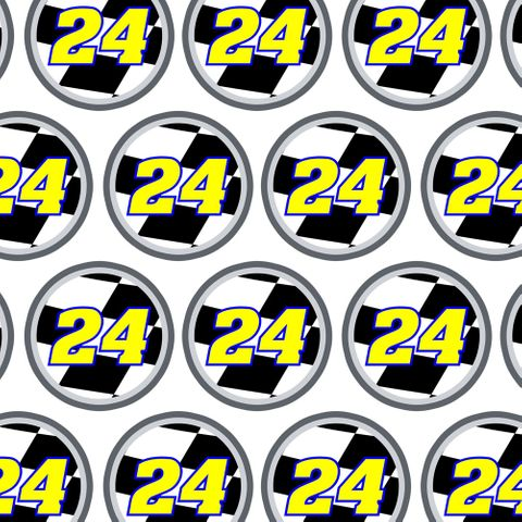 Number 24 Checkered Flag Racing Premium Gift Wrap Wrapping Paper Roll