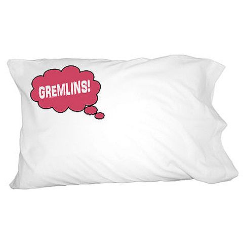 Dreaming of Gremlins - Red Pillowcase