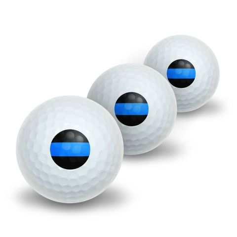 Thin Blue Line Novelty Golf Balls 3 Pack