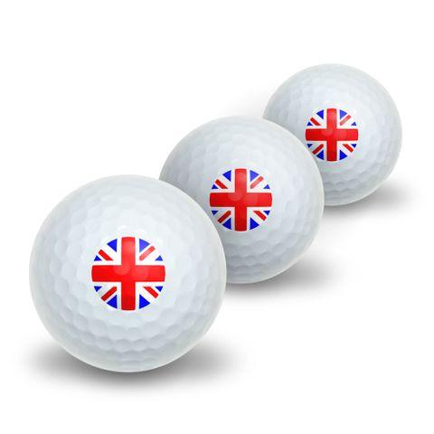 Britain British Flag - Union Jack Novelty Golf Balls 3 Pack