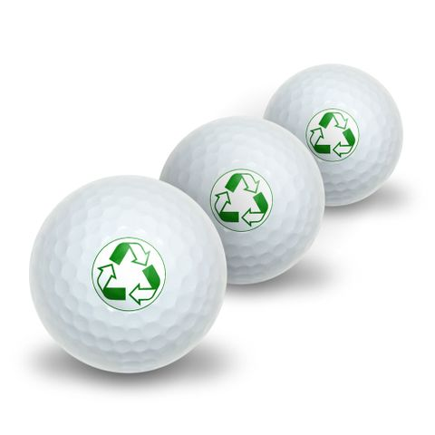 Recycle Reuse Conservation - Hybrid Novelty Golf Balls 3 Pack