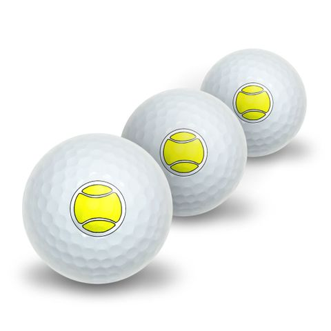 Tennis Ball Novelty Golf Balls 3 Pack