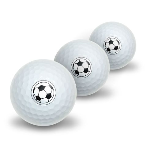 Soccer Ball Novelty Golf Balls 3 Pack