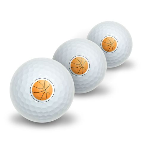 Basketball Novelty Golf Balls 3 Pack