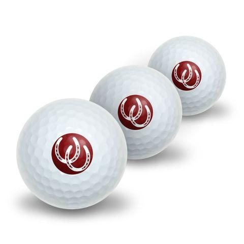Horseshoes - Good Luck Novelty Golf Balls 3 Pack