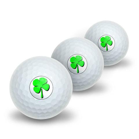 Four Leaf Clover - Irish Novelty Golf Balls 3 Pack