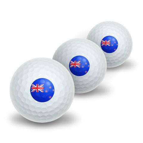 New Zealand Flag Novelty Golf Balls 3 Pack