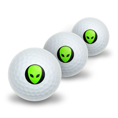Alien Head - Roswell Novelty Golf Balls 3 Pack