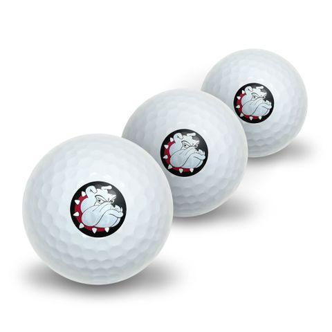 Bulldog Dog Novelty Golf Balls 3 Pack