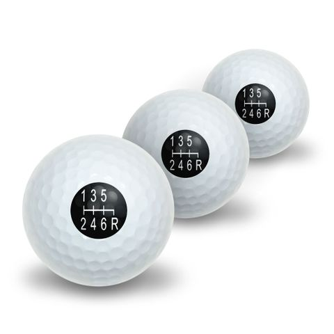 6 Speed Shift Knob Manual Transmission Novelty Golf Balls 3 Pack