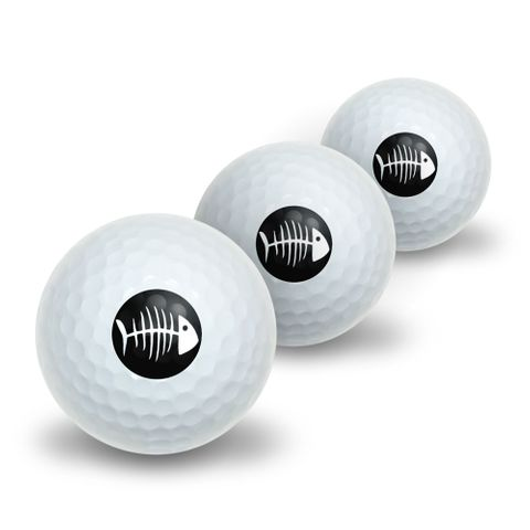 Fish Bones Novelty Golf Balls 3 Pack