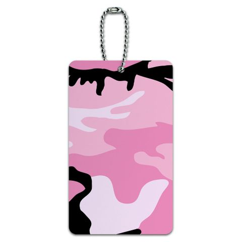 Pink Camouflage Army Soldier ID Card Luggage Tag