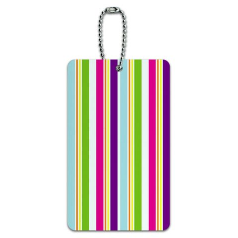 Yuppy Colorful Stripes ID Card Luggage Tag