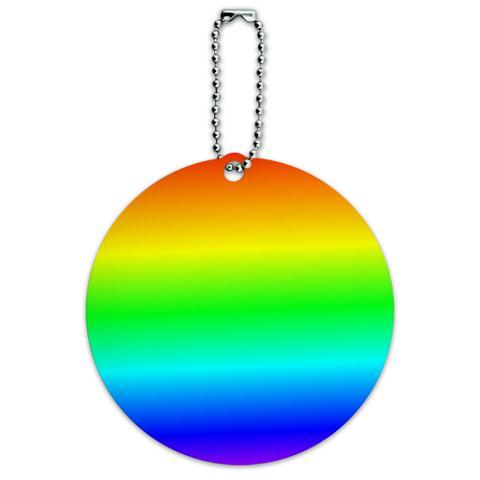 Rainbow Gay Lesbian Round ID Card Luggage Tag