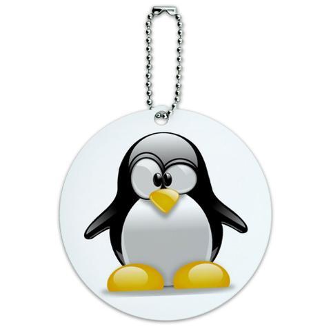 Penguin Snow Bird Round ID Card Luggage Tag