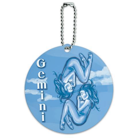 Gemini Zodiac Round ID Card Luggage Tag