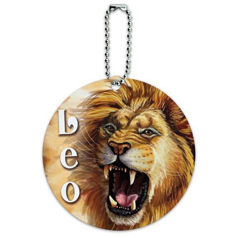 Leo Zodiac Round ID Card Luggage Tag