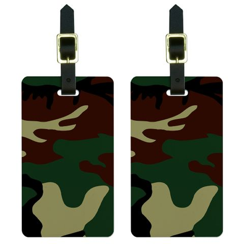 Camouflage Army Soldier Luggage Tag Set