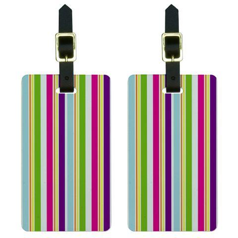 Yuppy Colorful Stripes Luggage Tag Set