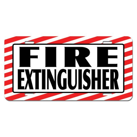 Fire Extinguisher - Business Sign Novelty License Plate