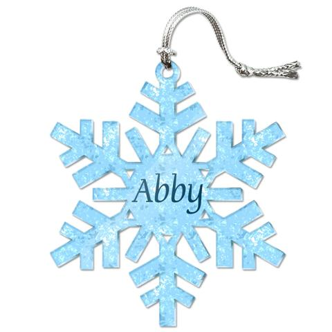 Abby Personalized Snowflake Acrylic Christmas Ornament